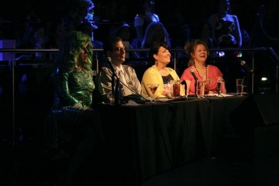 Hedda Lettuce, Michael, Katina Corrao, and Caroline Rhea