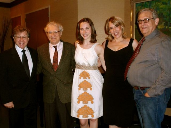 2009 Kleban award winners Kait Kerrigan and  Beth Falcone with Tiny Award winning Kleban Foundation board members Maury Yeston, Sheldon Harnick and Richard Maltby