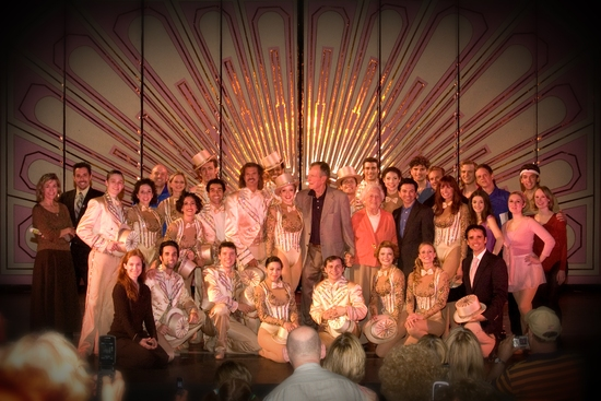 Former President and First Lady George and Barbara Bush with Cast and Staff of Ogunquit Playhouse's A Chorus Line