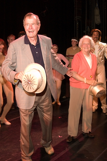 George and Barbara Bush Trying some 'Chorus Line' Dance Steps