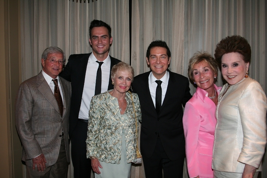 Jerry Sheindlin, Cheyenne Jackson, Jane Powell, Michael Feinstein, Judge Judy Sheindlin and Cindy Adams at Michael Feinstein and Cheyenne Jackson Debut 'THE POWER OF TWO' at FEINSTEIN'S