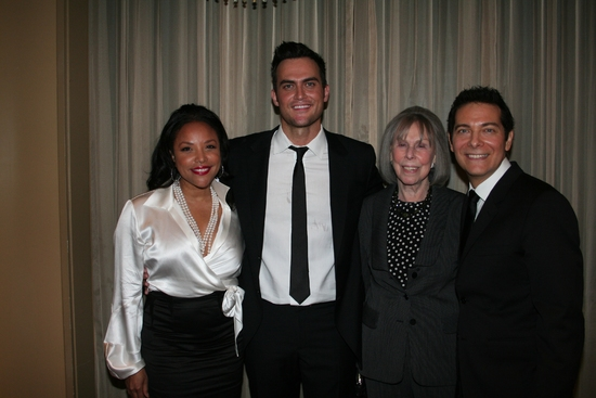 Cheyenne Jackson, Lynn Whitfield, Joan Tisch and Michael Feinstein