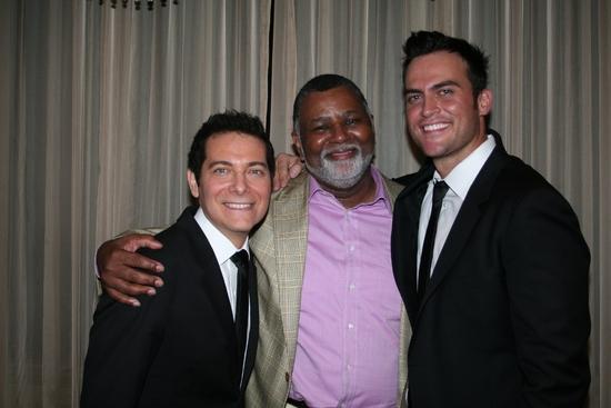 Michael Feinstein, Alexander Smalls and Cheyenne Jackson Photo