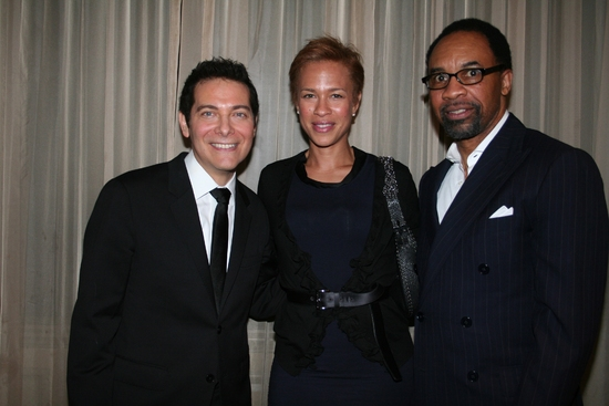 Michael Feinstein, Tonya Lewis Lee and Dwight Johnson