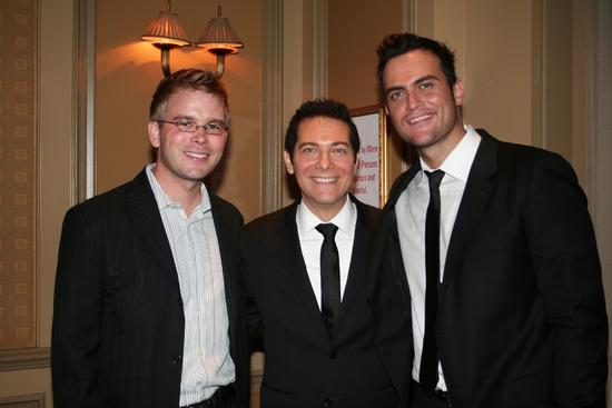 John Proulx, Michael Feinstein and Cheyenne Jackson