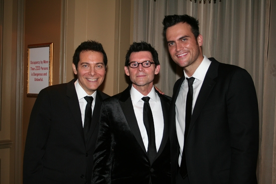 Michael Feinstein, Terrence Flannery and Cheyenne Jackson