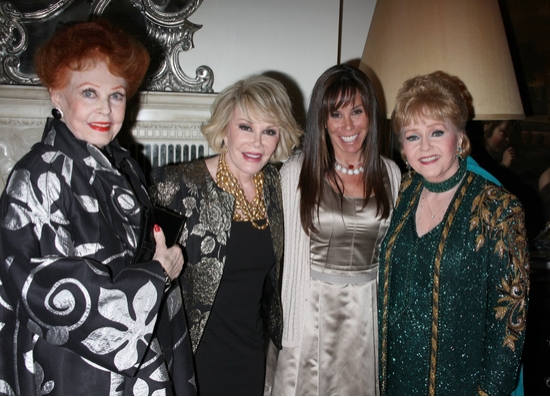 Arlene Dahl, Joan Rivers, Melissa Rivers and Debbie Reynolds