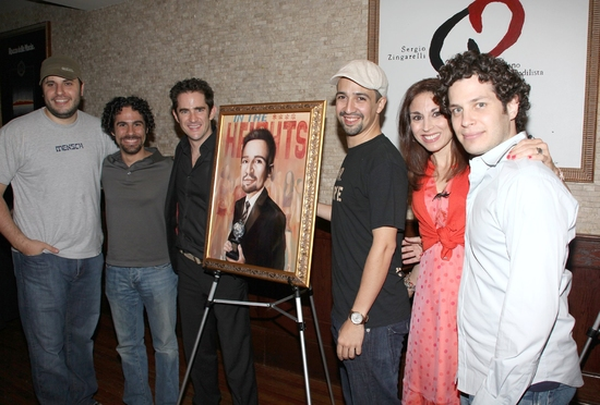 Bill Sherman, Alex Lacamoire, Andy Blankenbuehler, Lin-Manuel Miranda, Valerie Smaldone and Thomas Kail