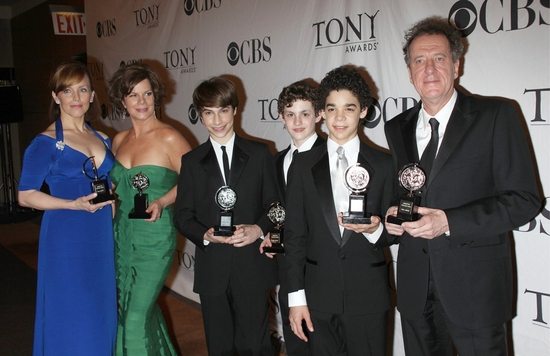Alice Ripley, Marcia Gay Harden, David Alvarez, Kiril Kulish, Trent Kowalik and Geoffrey Rush