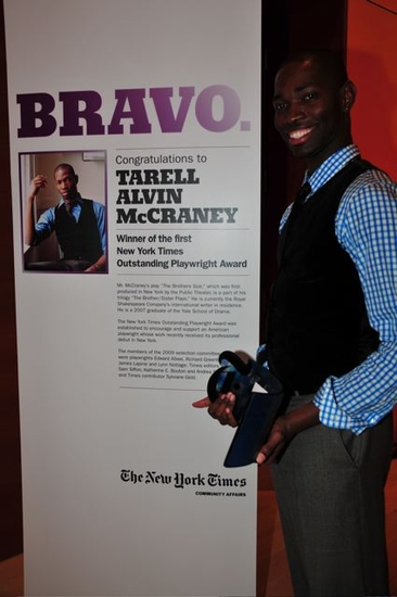 Photo Flash: Tarell Alvin McCraney Honored With The New York Times Outstanding Playwright Award