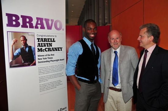 Tarell Alvin McCraney, Rocco Landesman and Arthur Sulzberger, Jr.