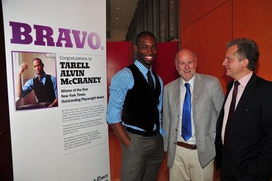 Tarell Alvin McCraney, Rocco Landesman and Arthur Sulzberger, Jr.