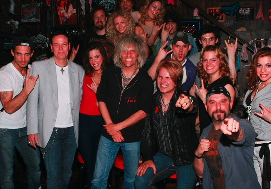 James Carpinello, Bobby Dall, Katherine Tokarz, C.C. Deville, Lauren Molina, Rikki Rockett, Amy Spanger, Adam Dannheisser, Angel Reed and Rock Of Ages Cast