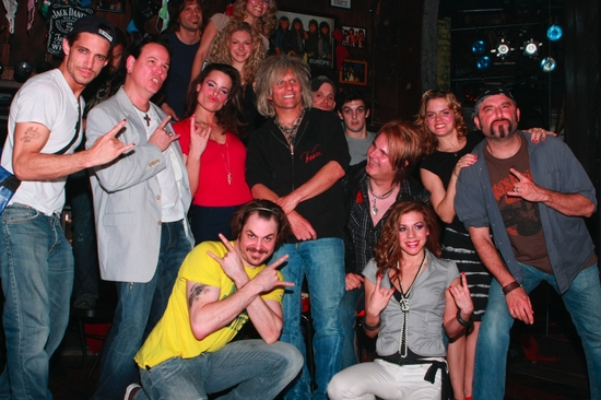 James Carpinello, Bobby Dall, Katherine Tokarz, Mitchell Jarvis, C.C. Deville, Lauren Molina, Rikki Rockett, Amy Spanger, Angel Reed and Rock Of Ages Cast