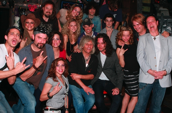 James Carpinello, Bobby Dall, Katherine Tokarz, C.C. Deville, Lauren Molina, Rikki Rockett, Amy Spanger, Angel Reed and Rock Of Ages Cast