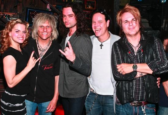 Amy Spanger, C.C. Deville, Constantine Maroulis, Bobby Dall and Rikki Rockett
