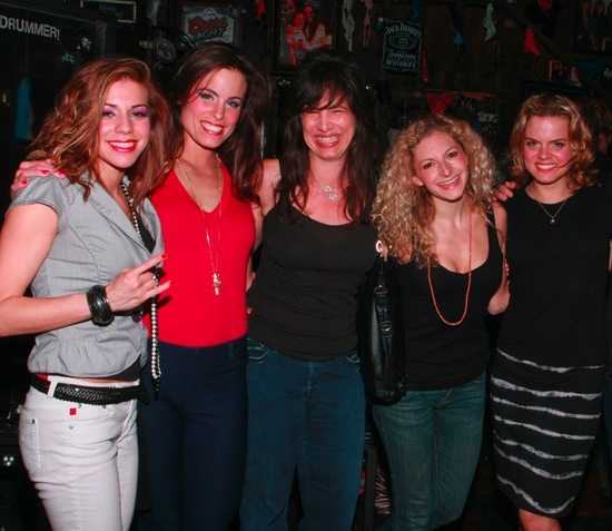 Angel Reed, Katherine Tokarz, Hilary Weaver, Lauren Molina and Amy Spanger