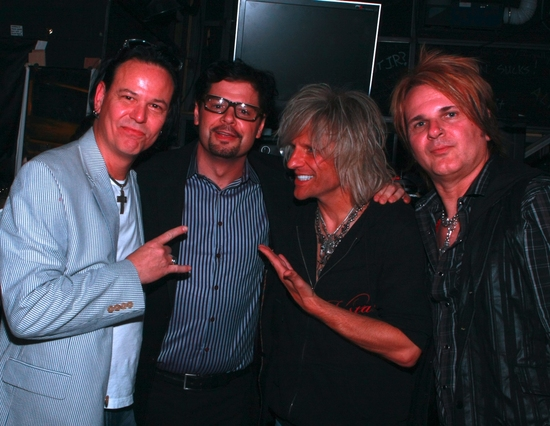 Bobby Dall, Mancow, C.C. Deville, and Rikki Rockett