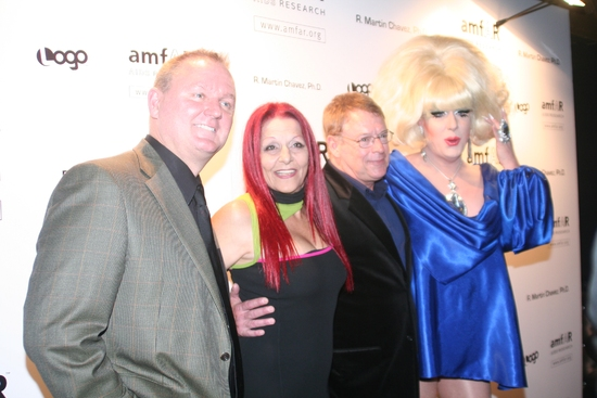 Kevin Frost, Patricia Field, Cleve Jones and Lady Bunny