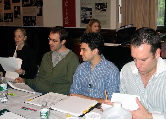 Allison Spratt, Rob Rokicki, Ari Butler, Chris Hoch and at the piano Musical Director Photo