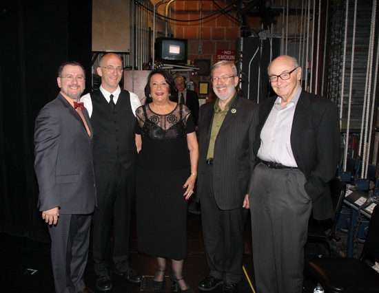 Backstage with Andrea Laguni, Timothy Brock, Hanna Kennedy, Leonard Maltin and Roger L. Mayer