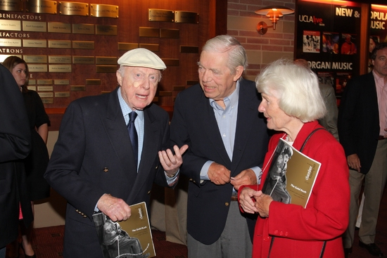 Norman Lloyd with Charles and Peggy Champlin at 20th Annual Silent Film Celebration