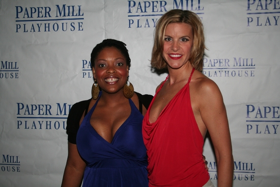 Rheaume Crenshaw and Jenn Colella at THE FULL MONTY 'Reveals All' On Opening Night At The Paper Mill Playhouse