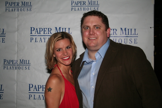 Jenn Colella and Joe Coots at THE FULL MONTY 'Reveals All' On Opening Night At The Paper Mill Playhouse