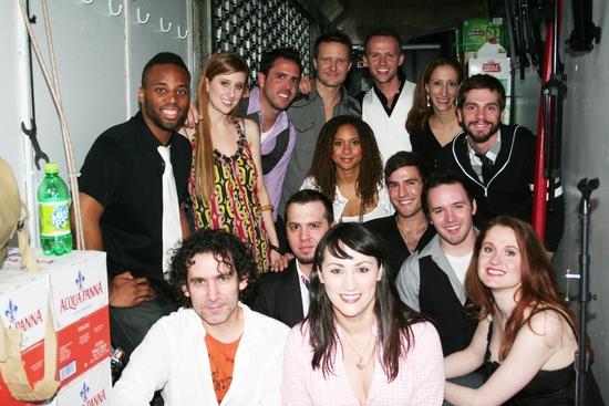 Cast and Creative Team; Scott Alan, Brad Bass, Will Chase, Sean Driscoll, Eden Espino Photo