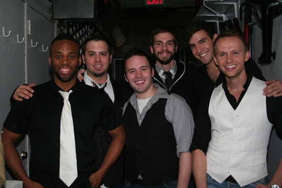 Maurice Murphy, Brad Bass, Gabriel Violett, Mike Harrison, Morgan Karr and Marty Thomas at 'Just Me and Them: The Music Of Scott Alan' at Birdland