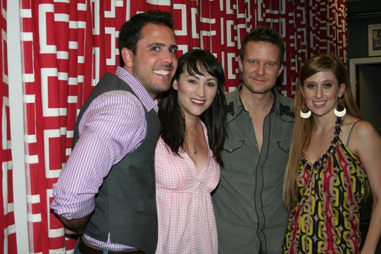 Scott Alan, Eden Espinosa, Will Chase and Caissie Levy