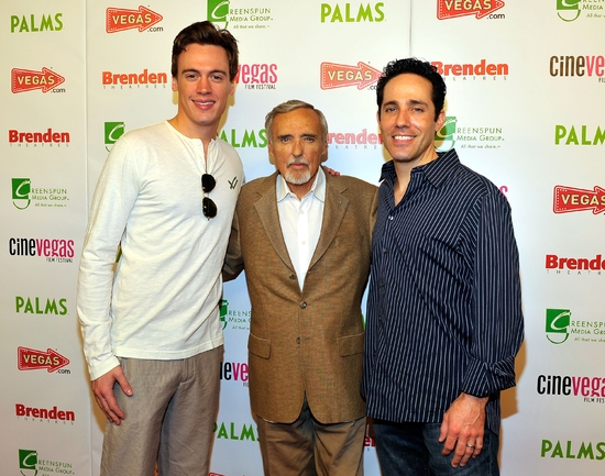 Erich Bergen and Jeff Leibow of JERSEY BOYS Las Vegas with Dennis Hopper at CineVegas