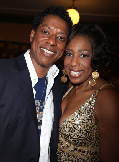 Orlando Jones and Dawnn Lewis at 'THE WIZ' Opening Night After Party