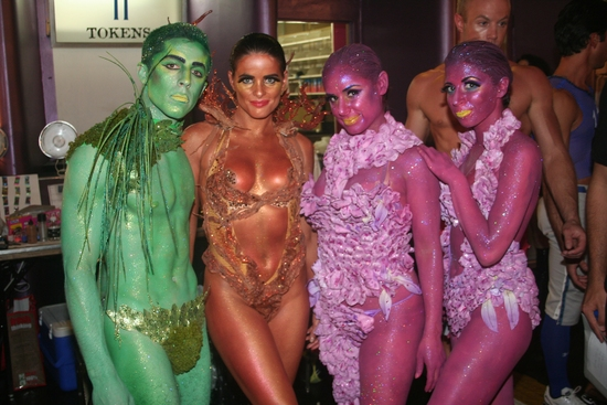 Adam Cassel, Erika Shannon, Valerie Salgado and Rosie Colosi at BROADWAY BARES 19.0 'CLICK IT' Backstage Pass - Part One!