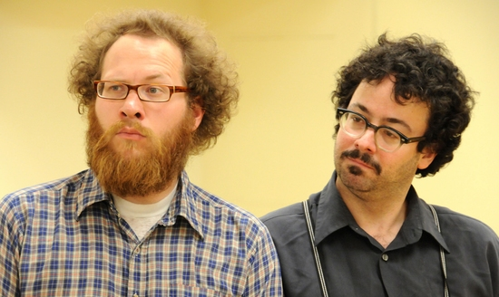 Andy Grotelueschen and Robert Saietta at 13P's 'Monstrosity' In Rehearsal