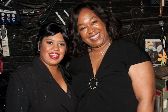 Chandra Wilson and Shonda Rhimes at Shonda Rhimes Visits CHICAGO's Chandra Wilson