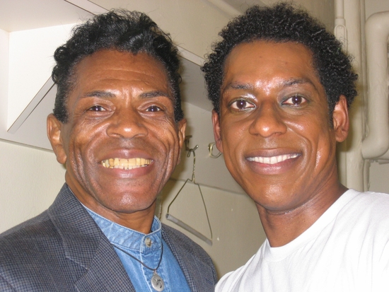 Andre De Shields and Orlando Jones at Andre De Shields Visits THE WIZ