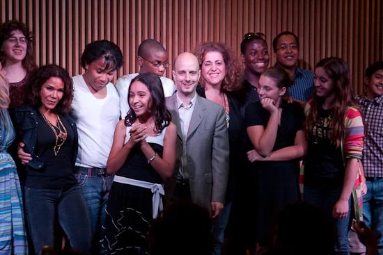 Daphne Rubin-Vega, Taro Alexander, Mary Testa and the Our Time gang!
