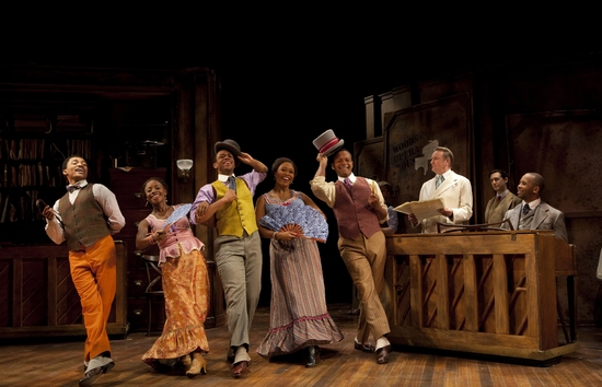 Randy Aaron, Idara Victor, Derrick Cobey, Rosena M. Hill, Ericka Pinnick, Mark Ledbetter, James Judy, Michael Therriault, and Michael Boatman at Roundabout's New Off-Broadway Musical TIN PAN ALLEY RAG