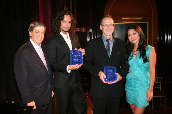 Michael Pressman, Constantine Maroulis, Honoree Alan Momeyerand Julie Chang