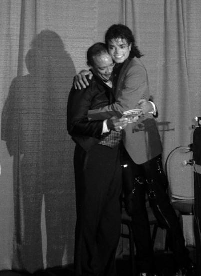 Michael Jackson with Quincy Jones 1988