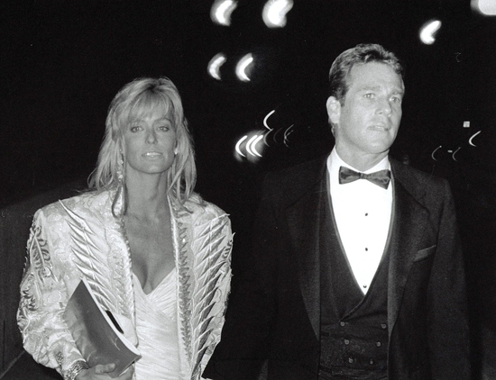 Farrah Fawcett and Ryan O'Neal 1985