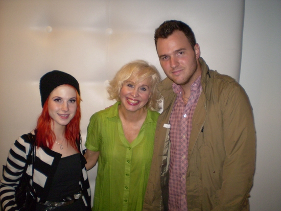 Hayley Williams, Nancy Opel, and Chad Gilbert