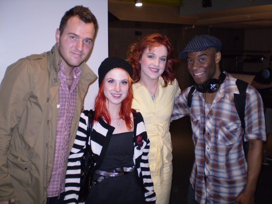 Chad Gilbert, Hayley Williams, Celina Carvajal, and Demond Green