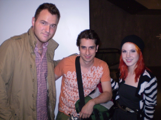 Chad Gilbert , Matt Saldivar, and Hayley Williams