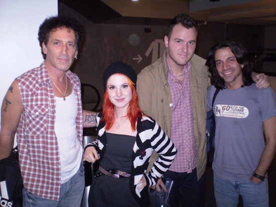 Alan Childs, Hayley Williams, Chad Gilbert, and Chris Cicchino