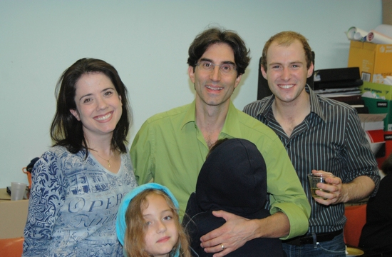 Jendi Tarder, Michael Unger (Director) and Nick Gaswirth with Phoebe and Nathaniel Unger