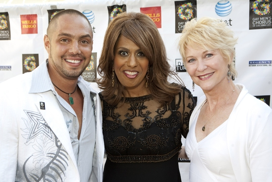 Producer and Co-Director, Chris Verdugo with Jennifer Holliday and Dee Wallace