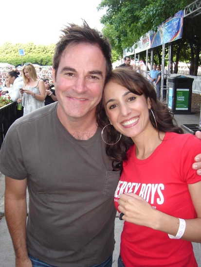 Merissa Haddad (Jersey Boys) with Roger Bart (Young Frankenstein, the new Mel Brooks musical)