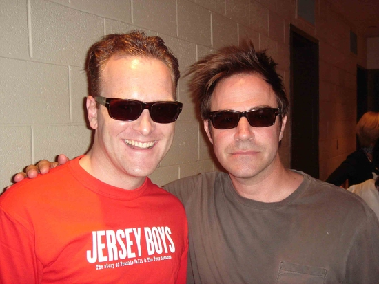 Jared Bradshaw (Jersey Boys) with Roger Bart (Young Frankenstein, the new Mel Brooks musical)